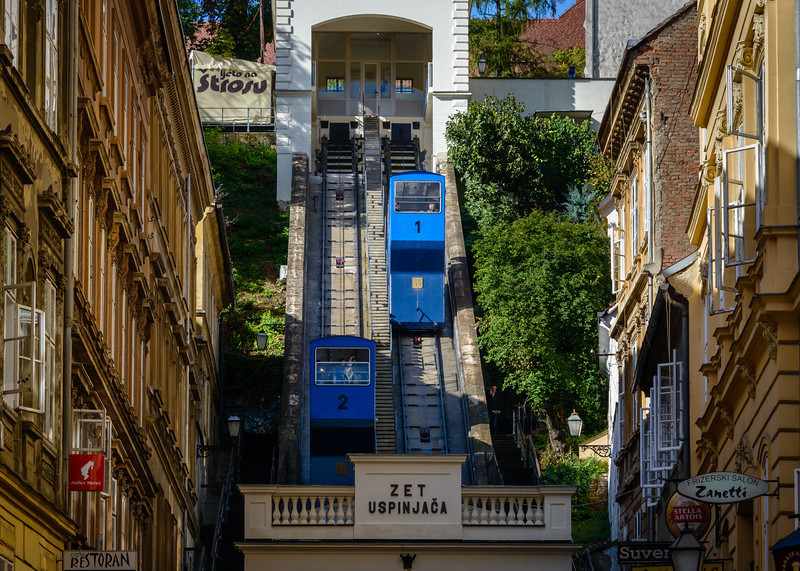 Funicular to Gradec area of Zagreb
