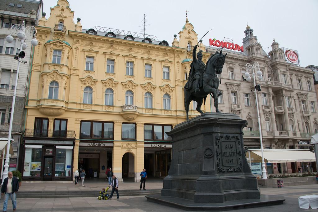 Ban Jelačić Statue in Square