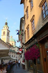 Ciril-Metodov Square and Cathedral of St Nicholas - Ljubljana