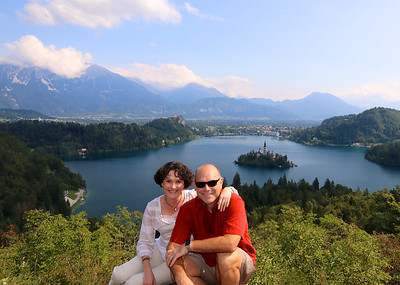 The stunning reward of a nice little hike! - Lake Bled, Slovenia