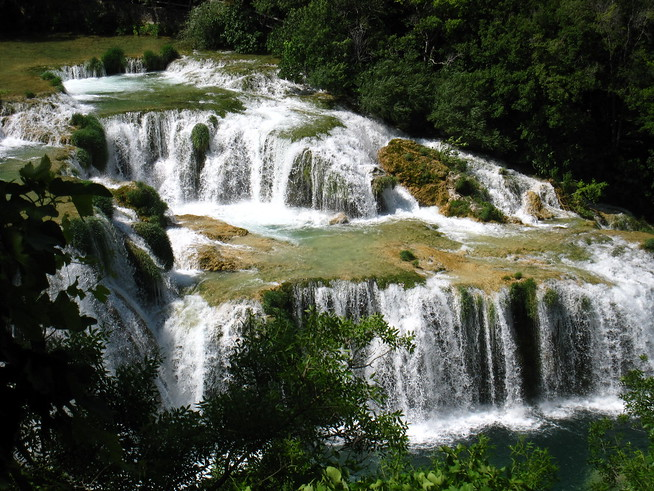 Waterfalls at Skradinski Buk, Krka, Croatia