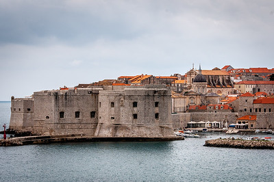 Huge fortress and wall in Dubrovnik, Croatia