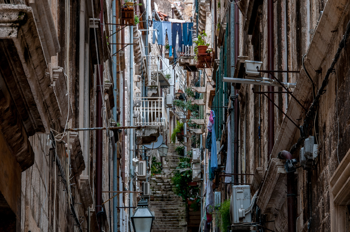 Side Street in the Old City of Dubrovnik, Croatia