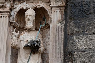 Statue of Saint Blaise (Sveti Vlaho) in Dubrovnik Cathedral - Dubrovnik, Croatia
