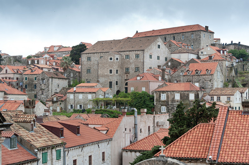 Stone houses in Dubrovnik, Croatia