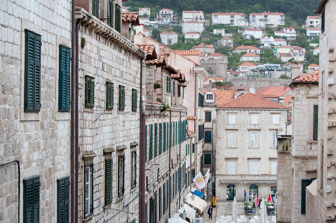Old stone structures along Strudan - Dubrovnik, Croatia