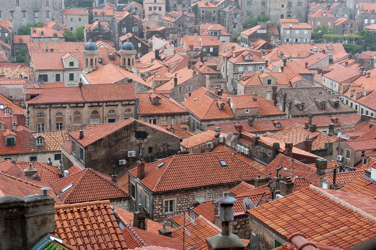 Roofs of houses in Dubrovnik, Croatia