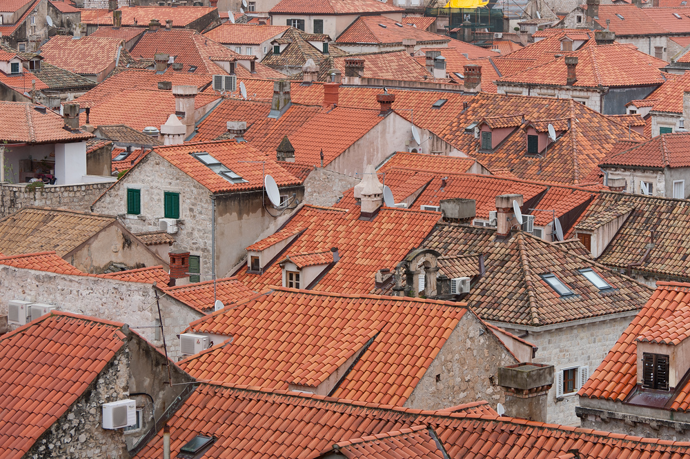 Rooftops in the old city of Dubrovnik, Croatia