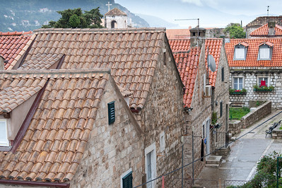 Empty side street in Dubrovnik, Croatia