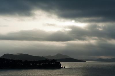 Heavy clouds above the Adriatic Sea in Dubrovnik, Croatia
