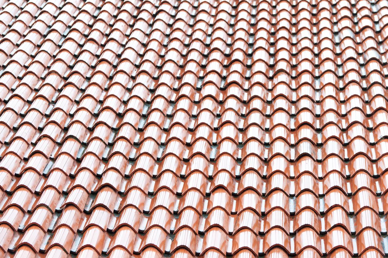 Detailed shot of roof shingles - Dubrovnik, Croatia