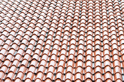 Detailed shot of roof shingles - Dubrovnik, Croatia