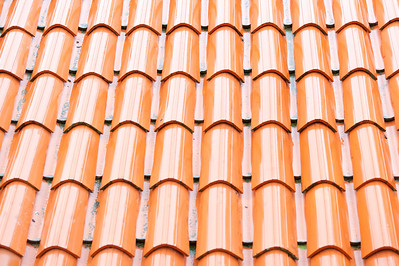 Close-up of roof shingles - Dubrovnik, Croatia