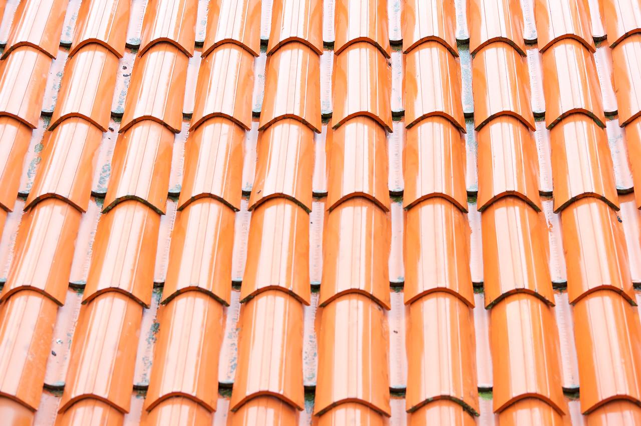 Close-up of roof shingles - Dubrovnik, Croatia