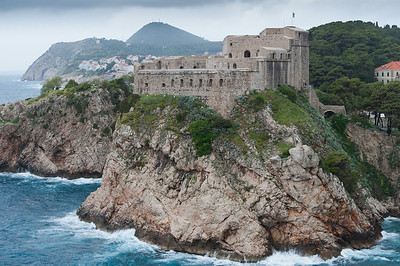 Fort of St. Lawrence on rocky cliffs in Dubrovnik, Croatia