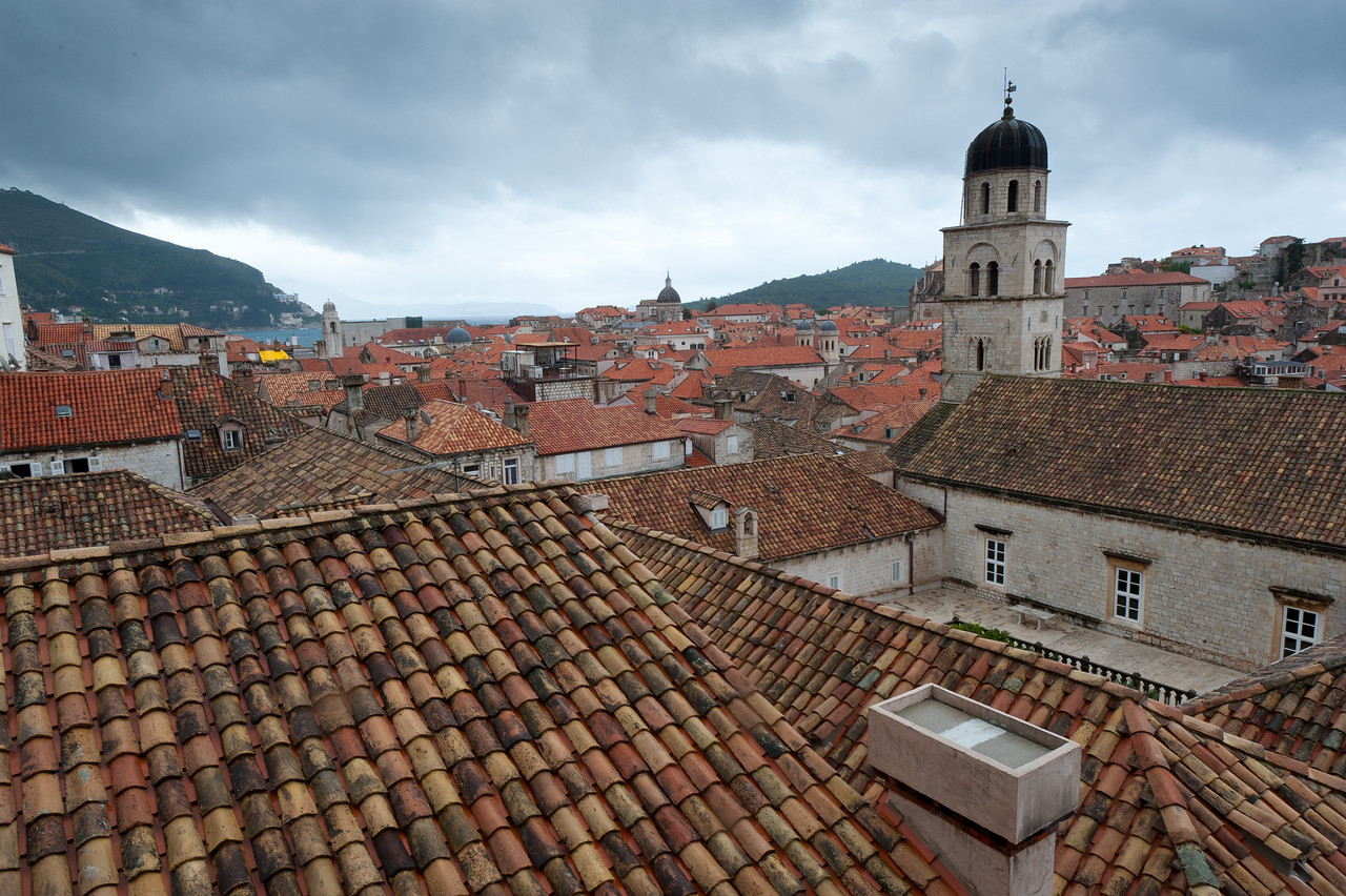 Rooftops and dome of the Assumption Cathedral of Dubrovnik - Dubrovnik, Croatia