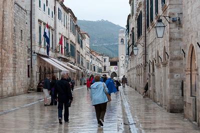 Street scene in Dubrovnik, Croatia