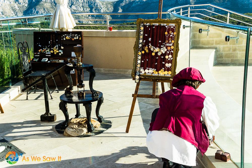 Vendor on Mt Srd, Dubrovnik