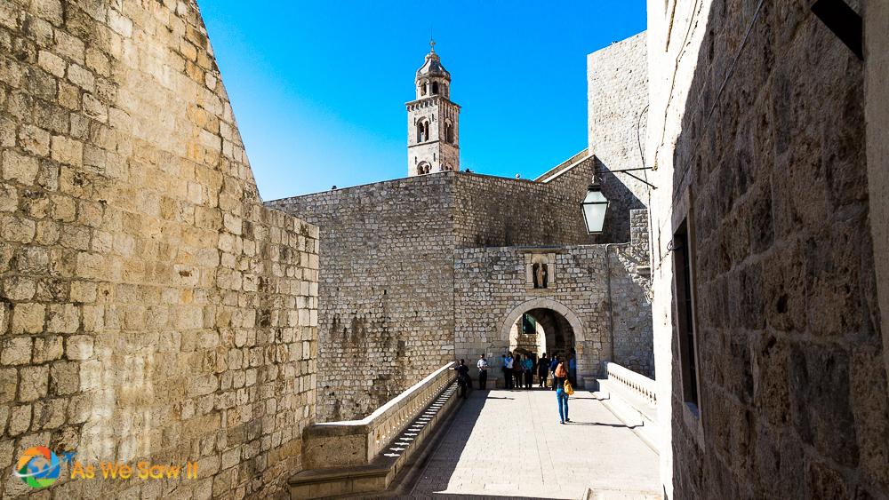 Entering Dubrovnik