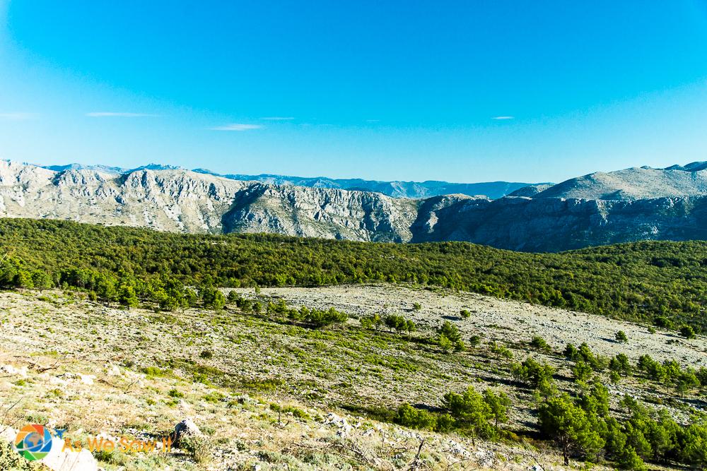 Croatia's mountains outside Dubrovnik