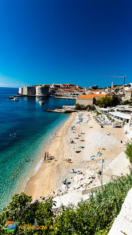 a day in Dubrovnik on the beach
