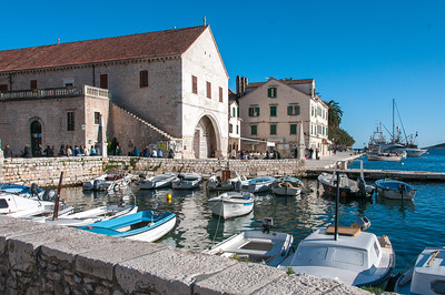 Small boats in harbor - Hvar, Croatia
