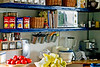 Pantry of an Osijek couple. Croatia.