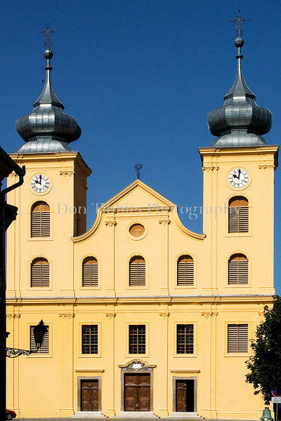 Former Jesuit Church of St. Michael. Osijek, Croatia.