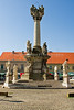Plague Pillar of the Holy Trinity in the Osijek Main Square. Osijek, Croatia.