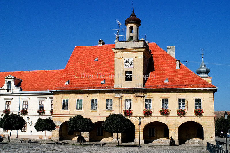 Old Town Guardshouse in the Osijek Main Square. Osijek, Croatia.