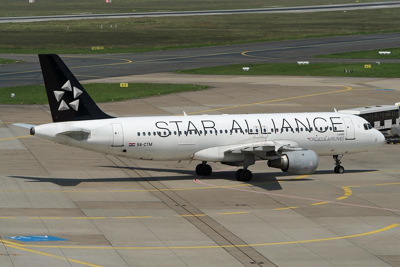 """9A-CTM Airbus A320-212 c/n 0671 Dusseldorf/EDDL/DUS 10-06-06 """"Star Alliance"""""""