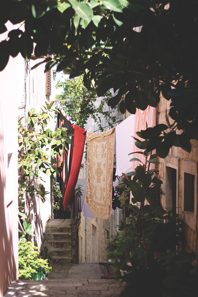 Alleys on Korčula Island. May 2016