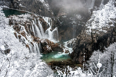 Falls in Plitvice National Park, Croatia