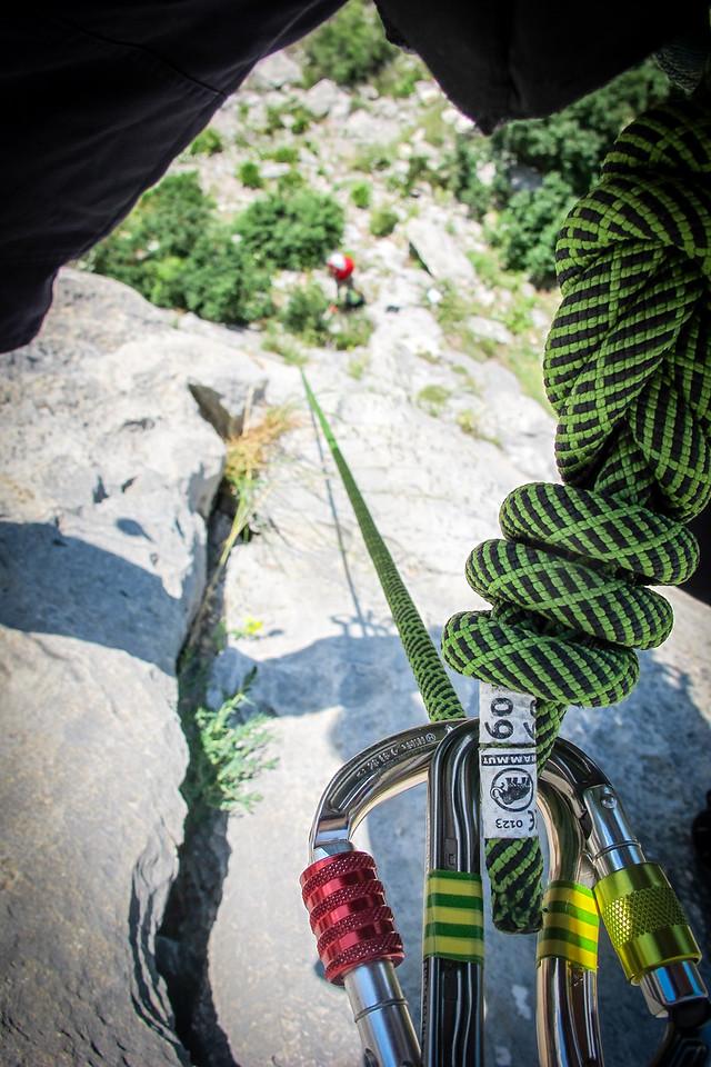 Climbing in Omis