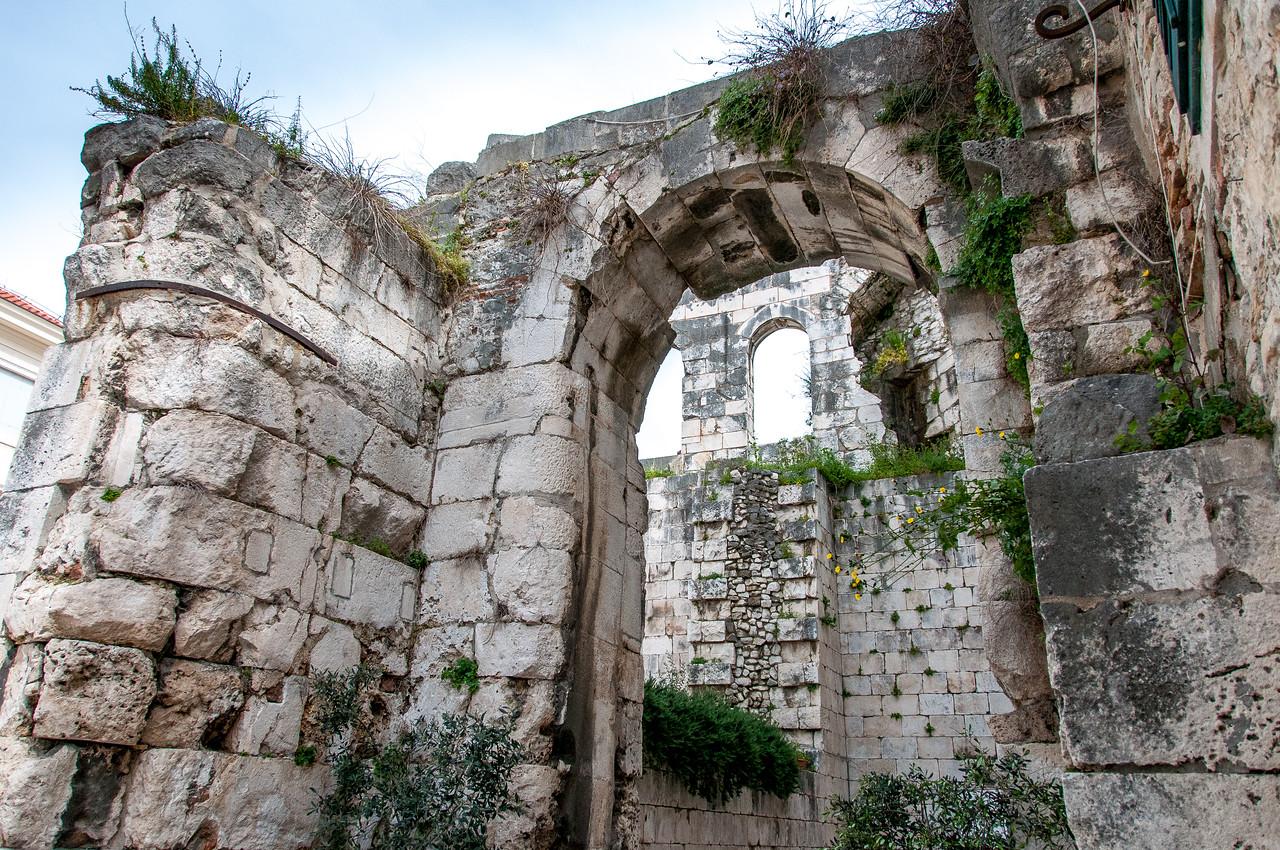 Inside the Diocletian's Palace in Split, Croatia