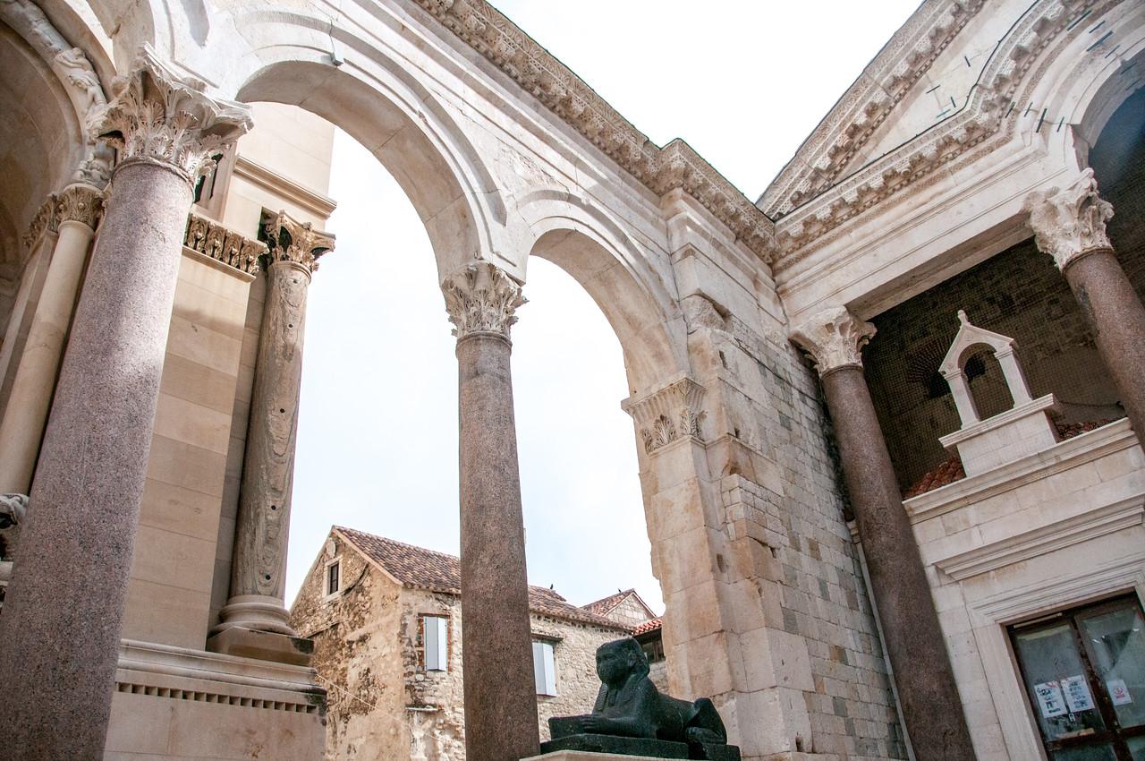 Pillars in the Diocletian's Palace - Split, Croatia