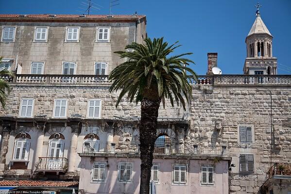 Split. Buildings on the Riva