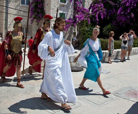Split - ancient Romans walking