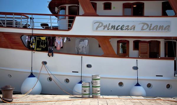 Trogir. A yacht.