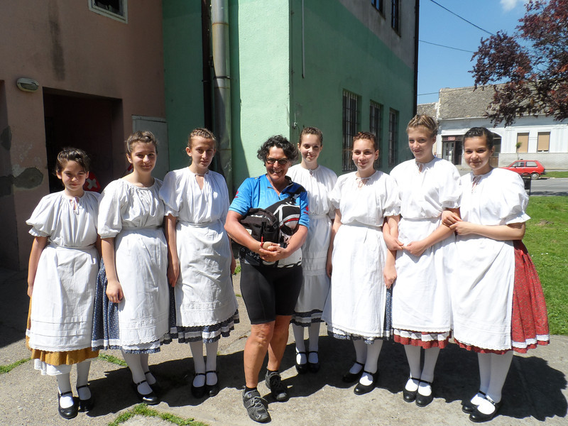 Listening to a girls choir in Croatia