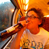 Therese can have a good time - on the train to the Cannes Film Festival