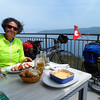 lunch after crossing to Istria in Croatia