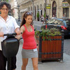 She will try anything - like Segway tours in Budapest ....