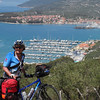 Arriving in Cres after a long, hilly bike ride.
