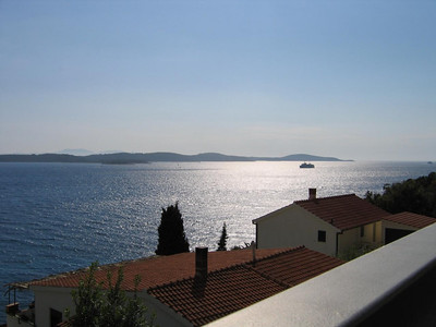 view from our balcony in Hvar