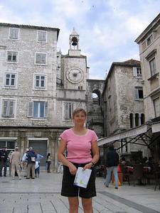 Split old town square
