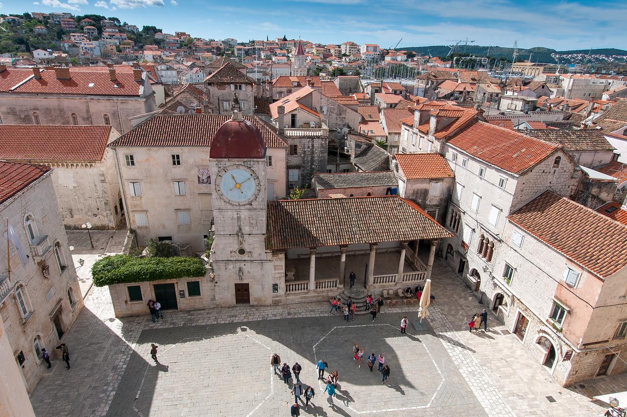 The City Clock Tower at Square John Paul II - Trogir, Croatia