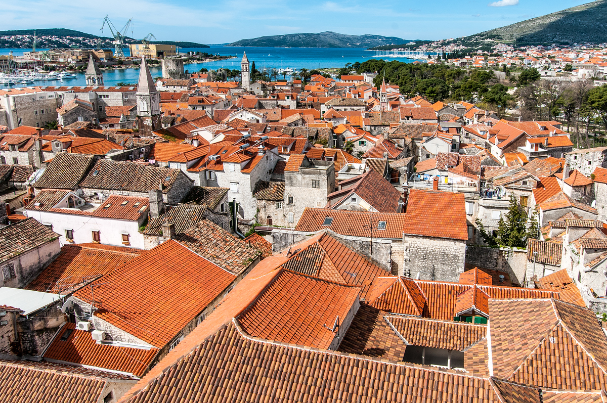 Rooftops of the Historic City of Trogir, Croatia