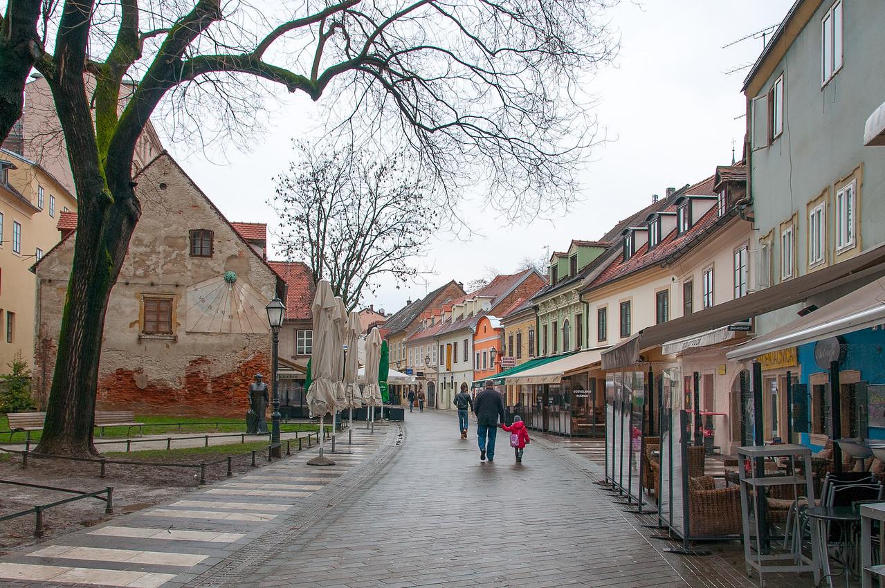 Street scene in Zagreb, Croatia