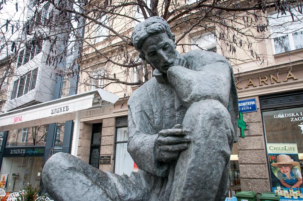 Nikola Tesla Statue in Zagreb, Croatia